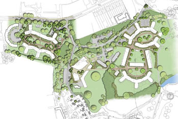 Halls redevelopment whiteknights campus university of for How to read construction site plans